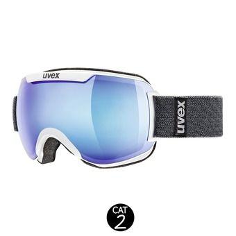 Masque de ski DOWNHILL 2000 FM white/mirror blue clear