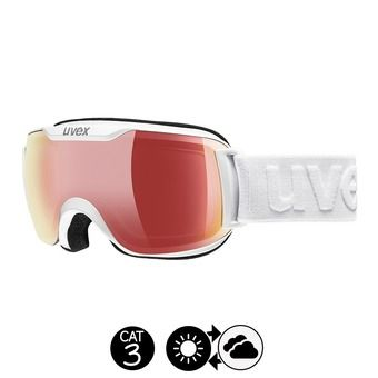 Masque de ski DOWNHILL 2000 S VFM white/mirror red variomatic/clear