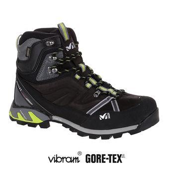 Zapatillas de senderismo hombre HIGH ROUTE GTX® charcoal/acide green