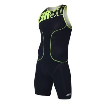 Trisuit - Men's - oSUIT dark blue/fluo yellow
