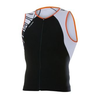 Maillot trifonction zippé sans manches USINGLET armada black/orange