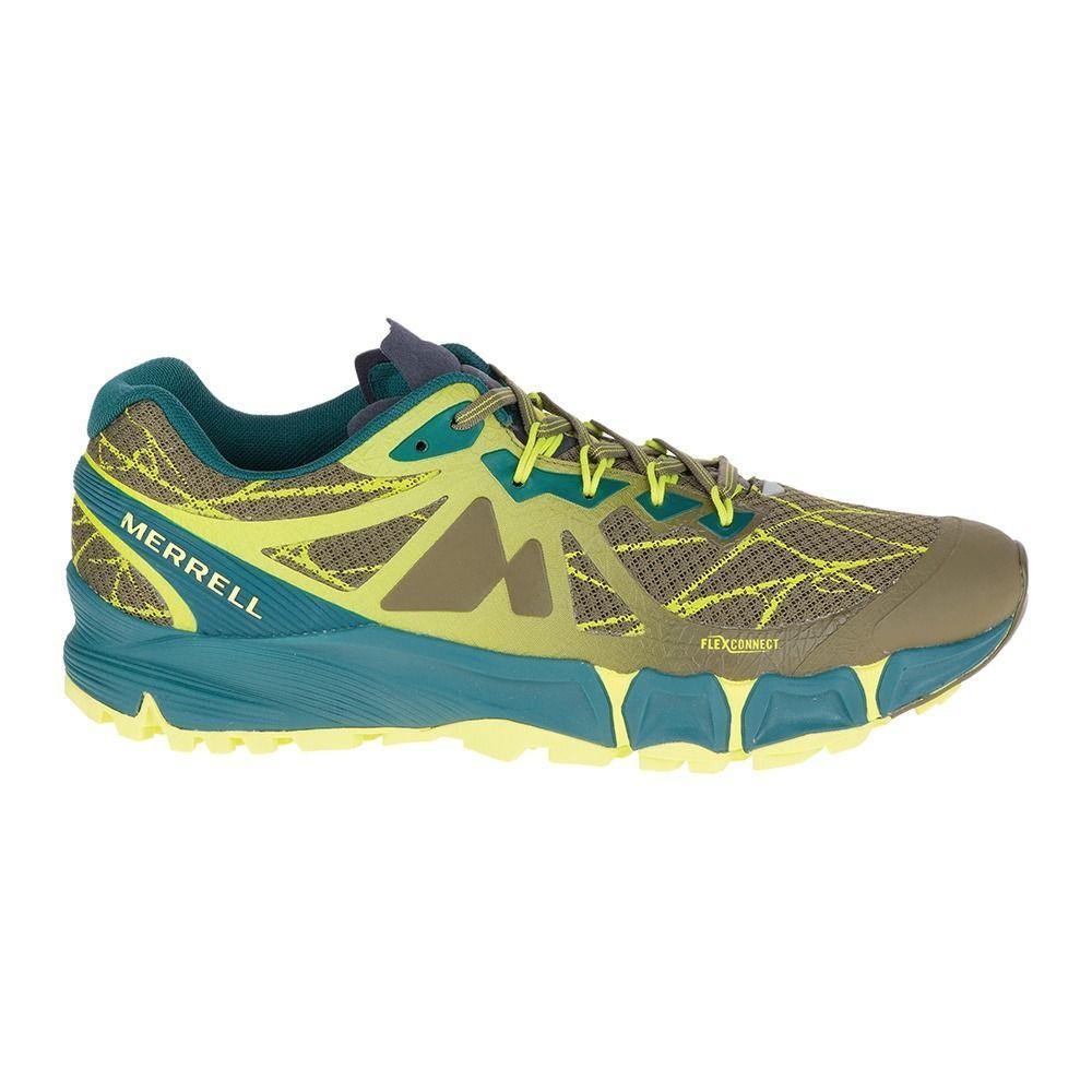 Homme Flex Peak Chaussures Merrell Dark Agility Trail Olive NwkO0PX8n