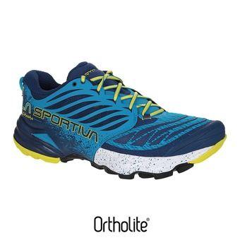 Zapatillas de trail hombre AKASHA blue/sulphur