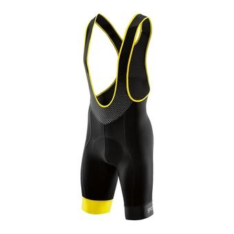 Mallas cortas con tirantes hombre CYCLE DNAMIC black/citron