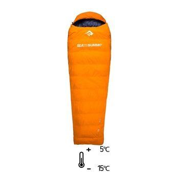 Saco de dormir 5°C/-15°C TREK Tk I naranja/ciruela