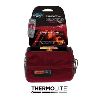Sea To Summit THERMOLITE REACTOR COMPACT + - Drap sac de couchage rouge