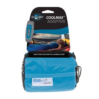 Sea To Summit COOLMAX ADAPTOR - Drap sac de couchage bleu
