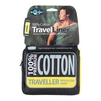Drap de sac COTON Traveller Pillow insert  Eucalyptus Green