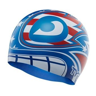 Bonnet de bain MASKED LIBERATOR red/white/blue