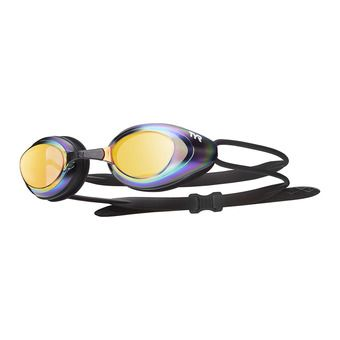 Gafas de natación BLACKHAWK RACING MIRRORED black/gold-metal rainbow