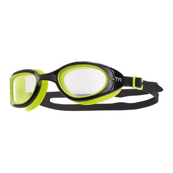 Tyr SPECIAL OPS 2.0 TRANSITION - Lunettes de natation photochromiques clear/black/lime green