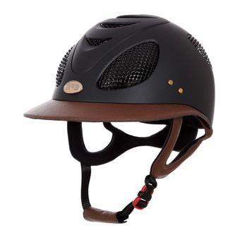Helmet - Women's - FIRST LADY LEATHER 2X black/chestnut