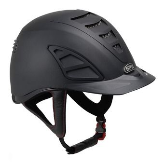 Gpa SPEED AIR 4S - Casco de equitación black/black