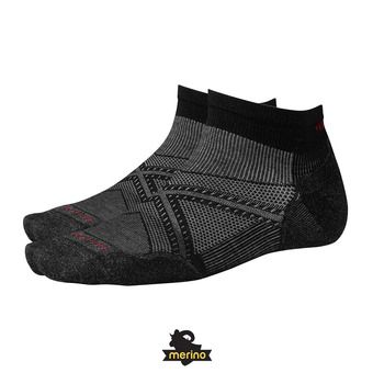 Smartwool PHD RUN LIGHT ELITE LOW CUT - Calcetines black