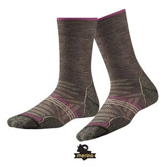 Smartwool PHD OUTDOOR LIGHT CREW - Calcetines mujer taupe