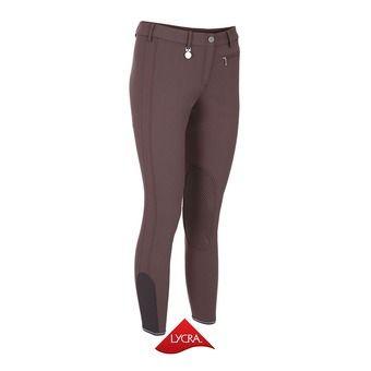 Pantalón con silicona mujer PRISCA marrón glacé
