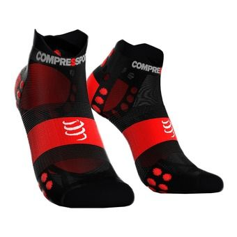 Chaussettes basses PRORACING V3 ULTRALIGHT RUN noir/rouge