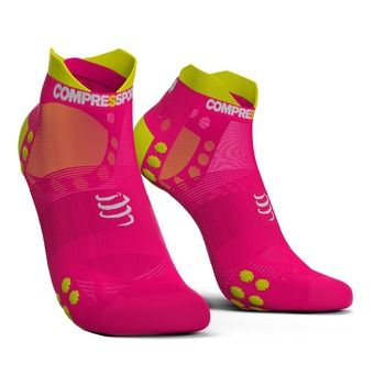 Compressport ULTRALIGHT LOW PRSV3 - Chaussettes fluo pink