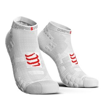 Chaussettes basses PRORACING V3 RUN blanc