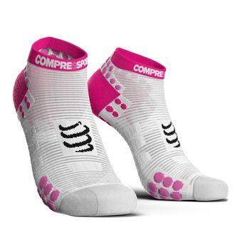 Chaussettes basses femme RUN PRSV3 blanc/rose