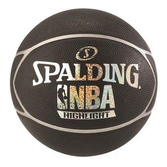 Spalding NBA HIGHLIGHT - Pallone da basket nero/argento
