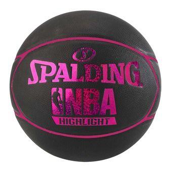 Balón de baloncesto NBA HIGHLIGHT 4HER negro/rosa fucsia
